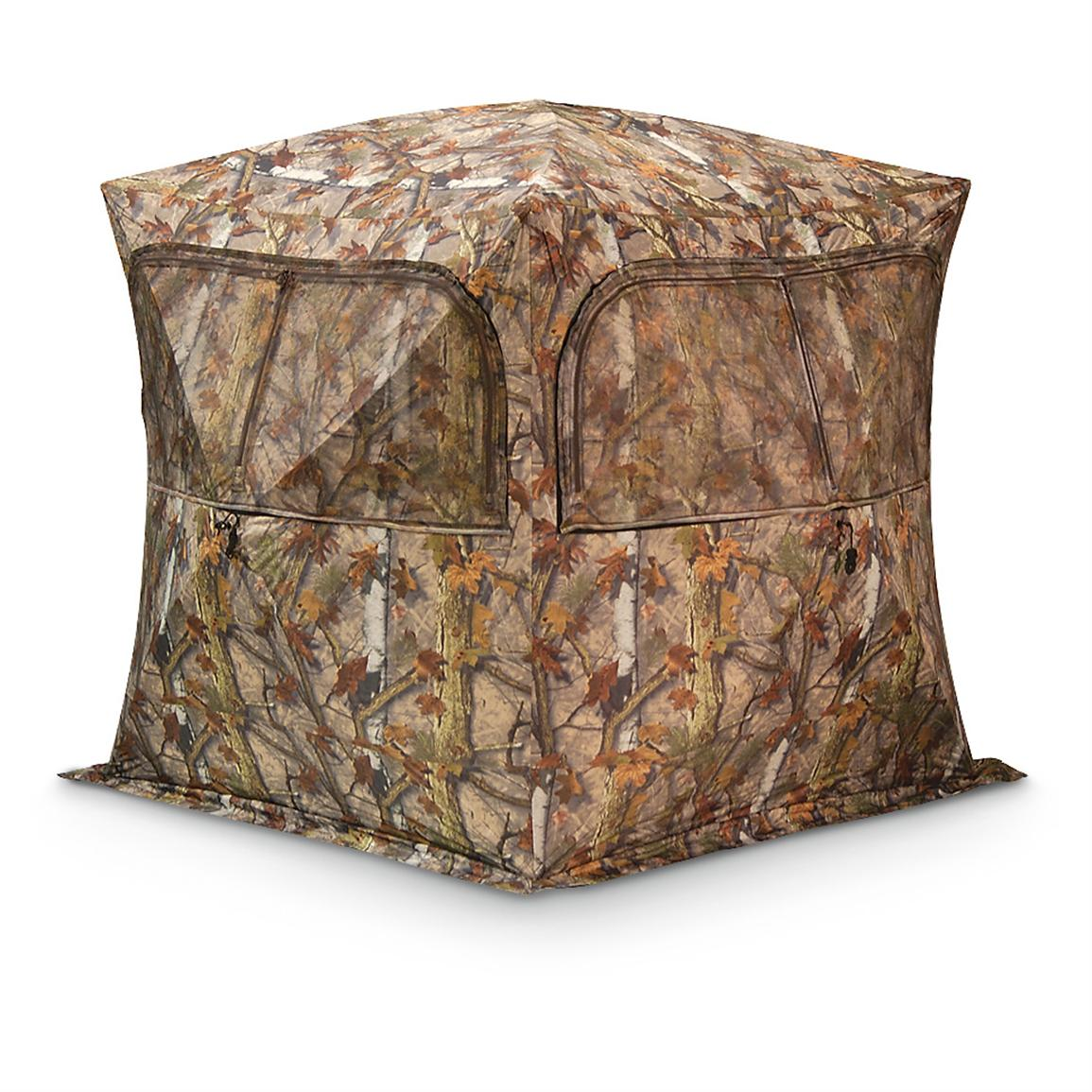 Barronett Grounder Hunting Blinds, BloodTrail Blades Camo, 2-person