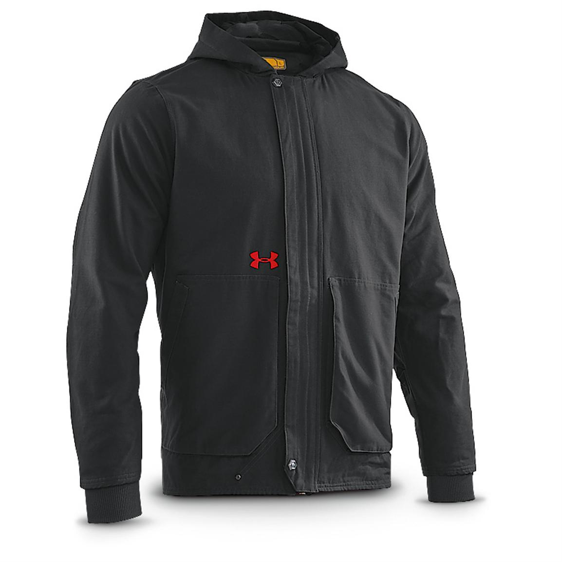 Under Armour® Burley Hooded Jacket, Black