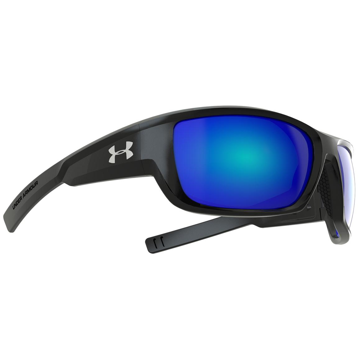 Under Armour® Rumble Polarized Sunglasses with Blue Mirror Multiflection™ Lenses