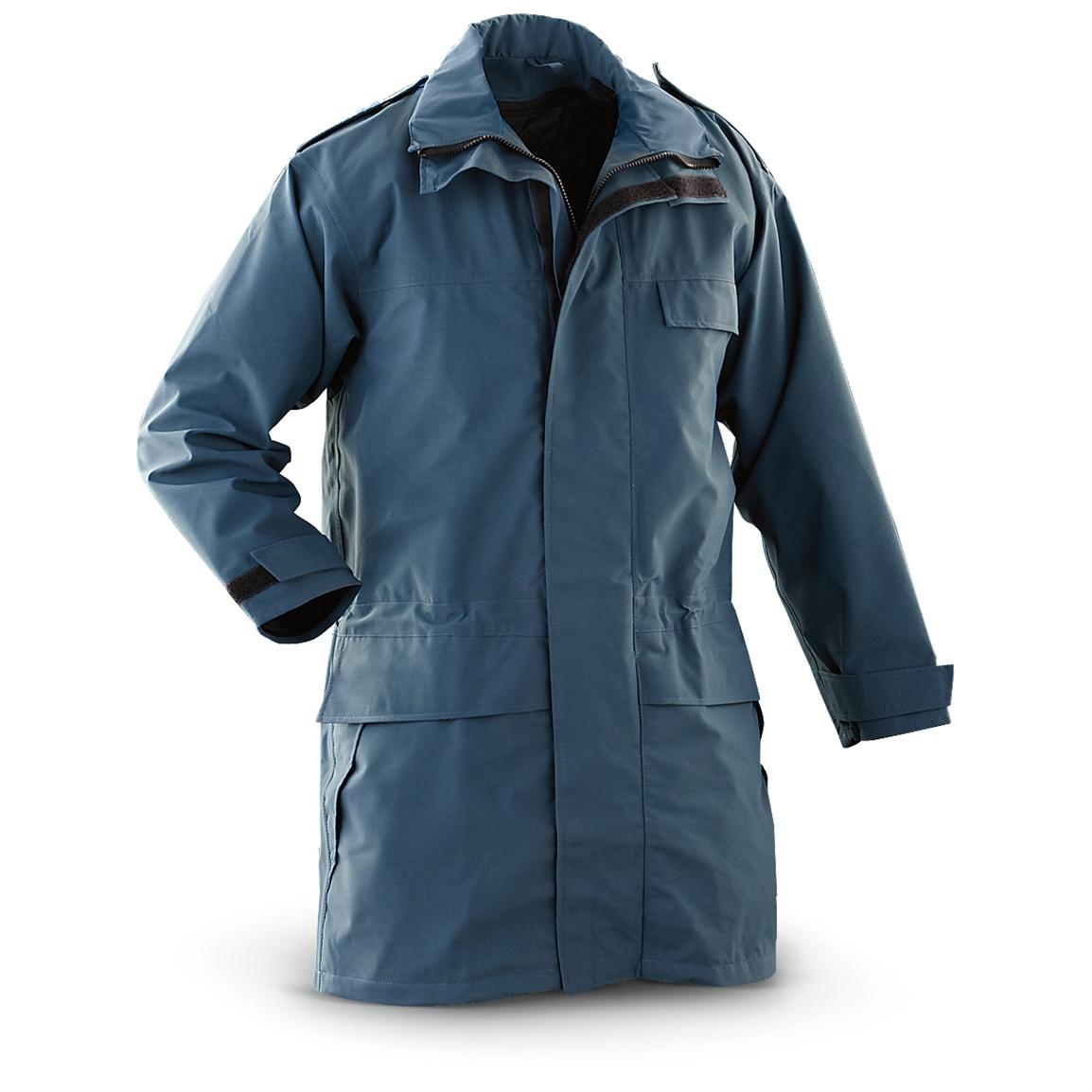 New British RAF Military Surplus GORE-TEX® Jacket with Liner, Blue