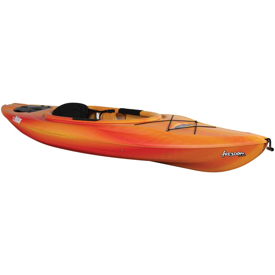Pelican™ Freedom 100 DLX Kayak, Red / Yellow
