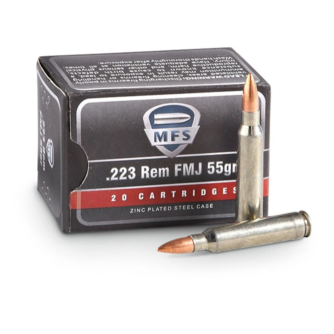 500 rds. MFS 2000™ .223 (5.56x45mm) 55 Grain FMJ Ammo