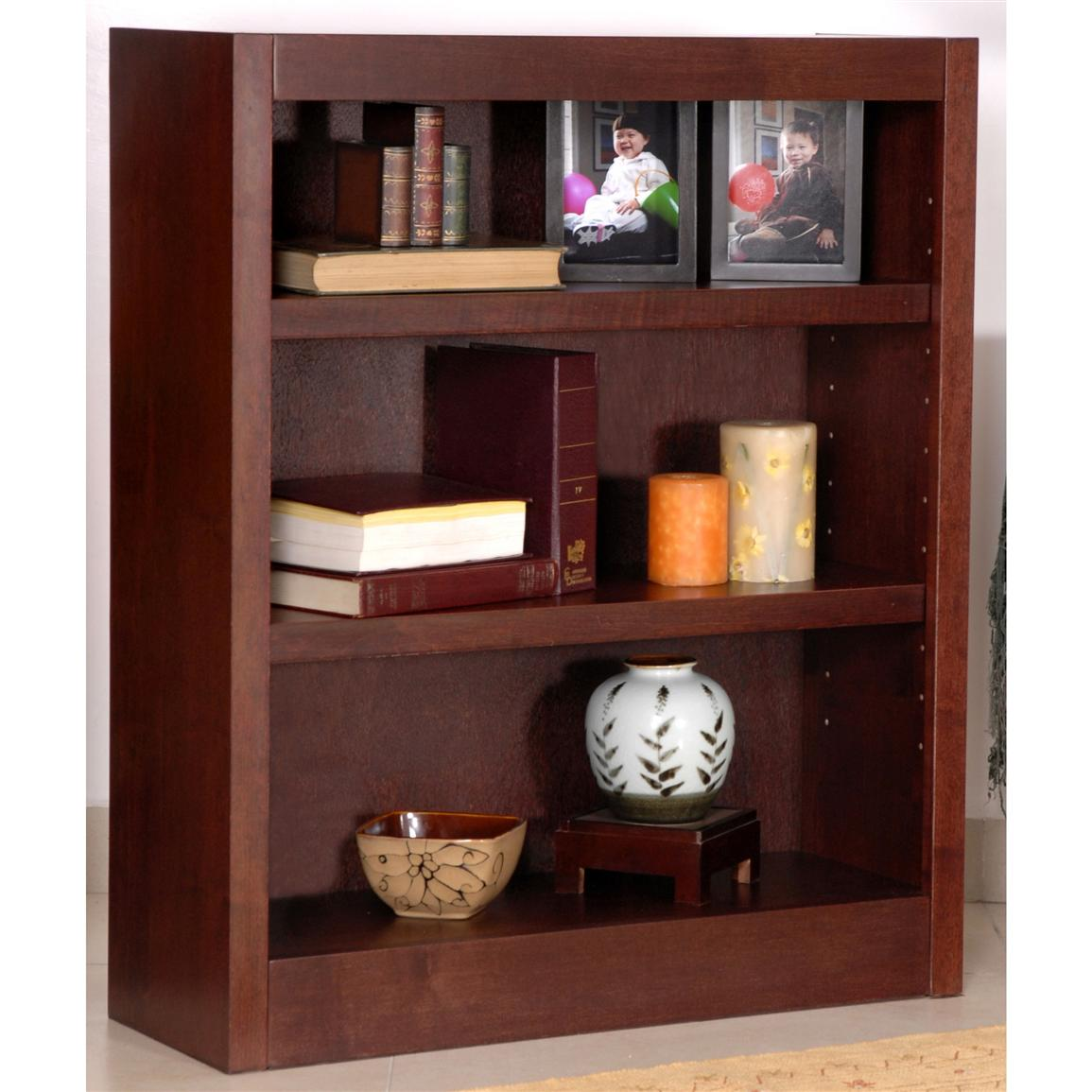 Concepts in Wood 3 - shelf Bookcase - 206539, Office at ...