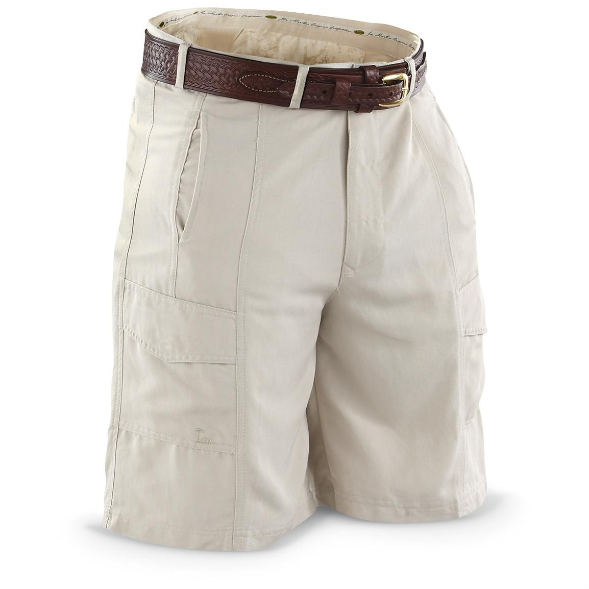 Joe Marlin® Cargo Shorts, Beige Front