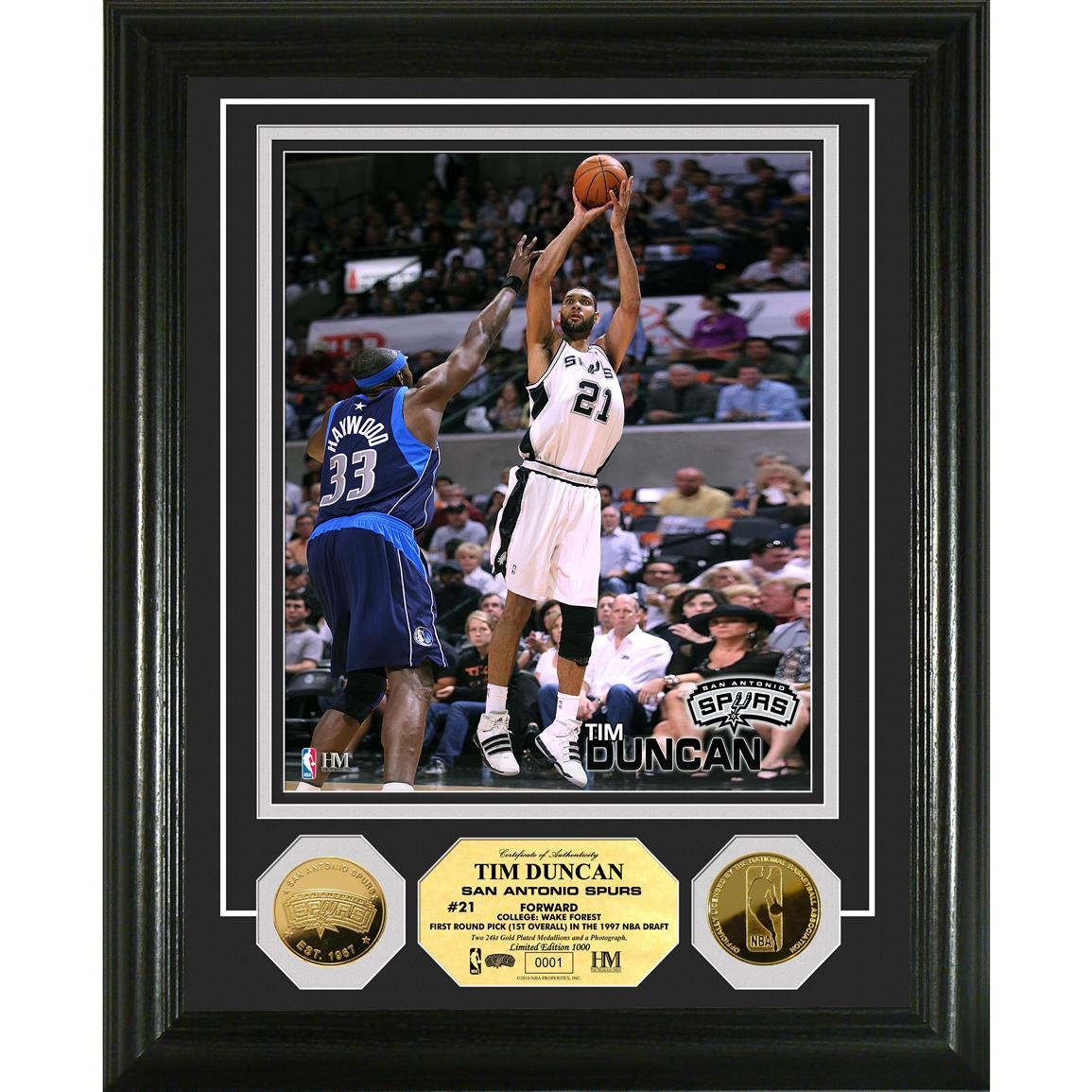 Highland Mint® Tim Duncan 24-ct. Gold Coin Photo Mint