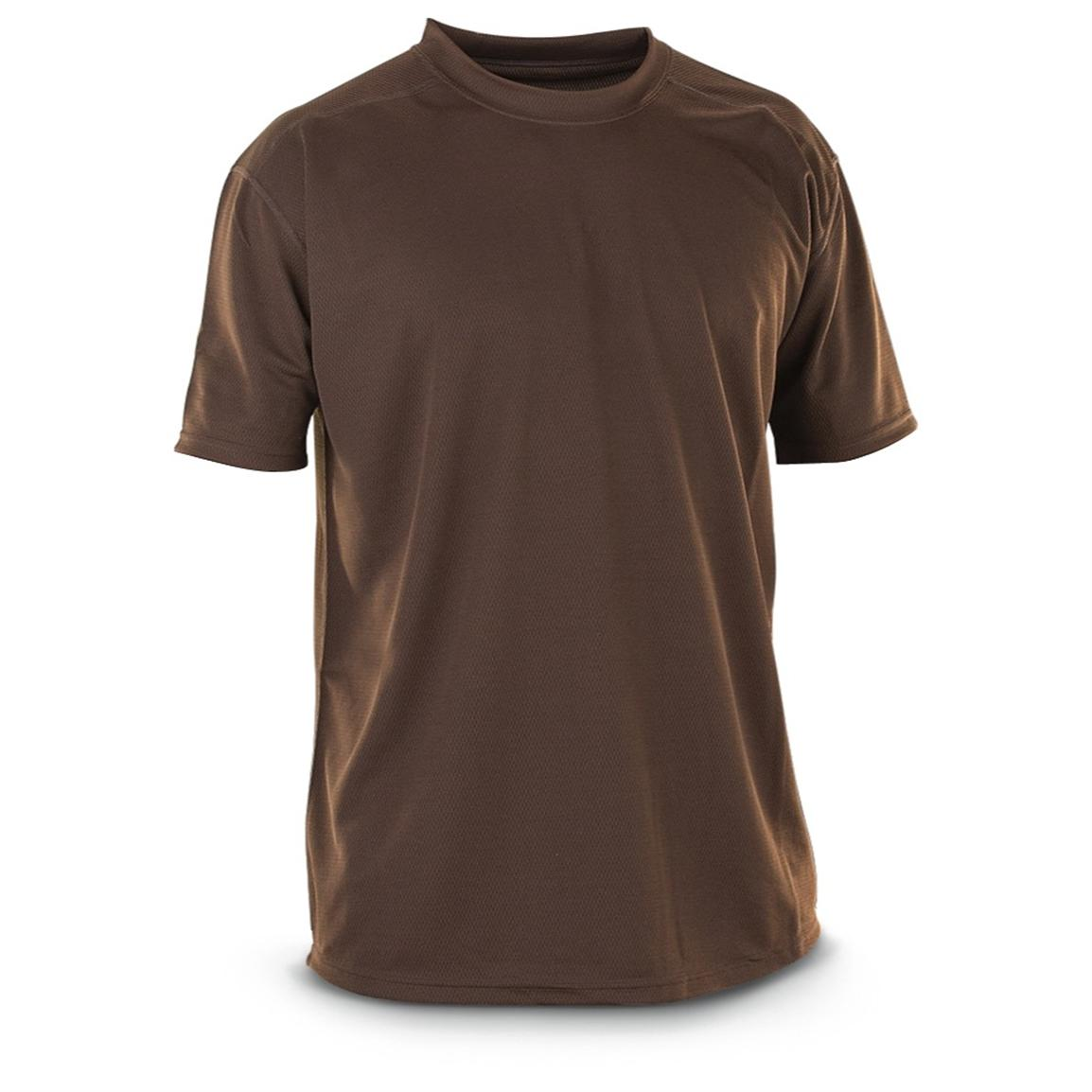 3-Pk. of New Men's British Military CoolMax Tees, Brown
