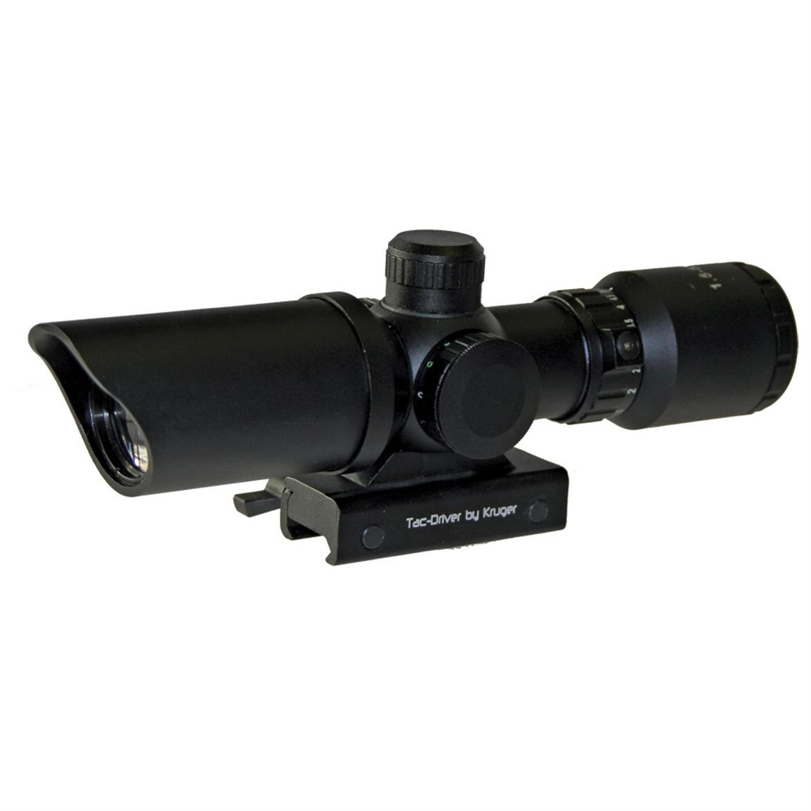 Kruger Optical® 1.5-5x32 mm TacDriver™ Tactical Duplex Reticle Rifle Scope