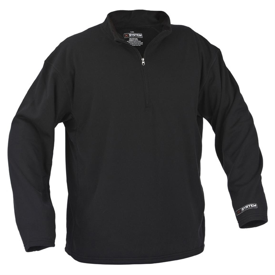 X-System Midweight Fleece Pullover, Black
