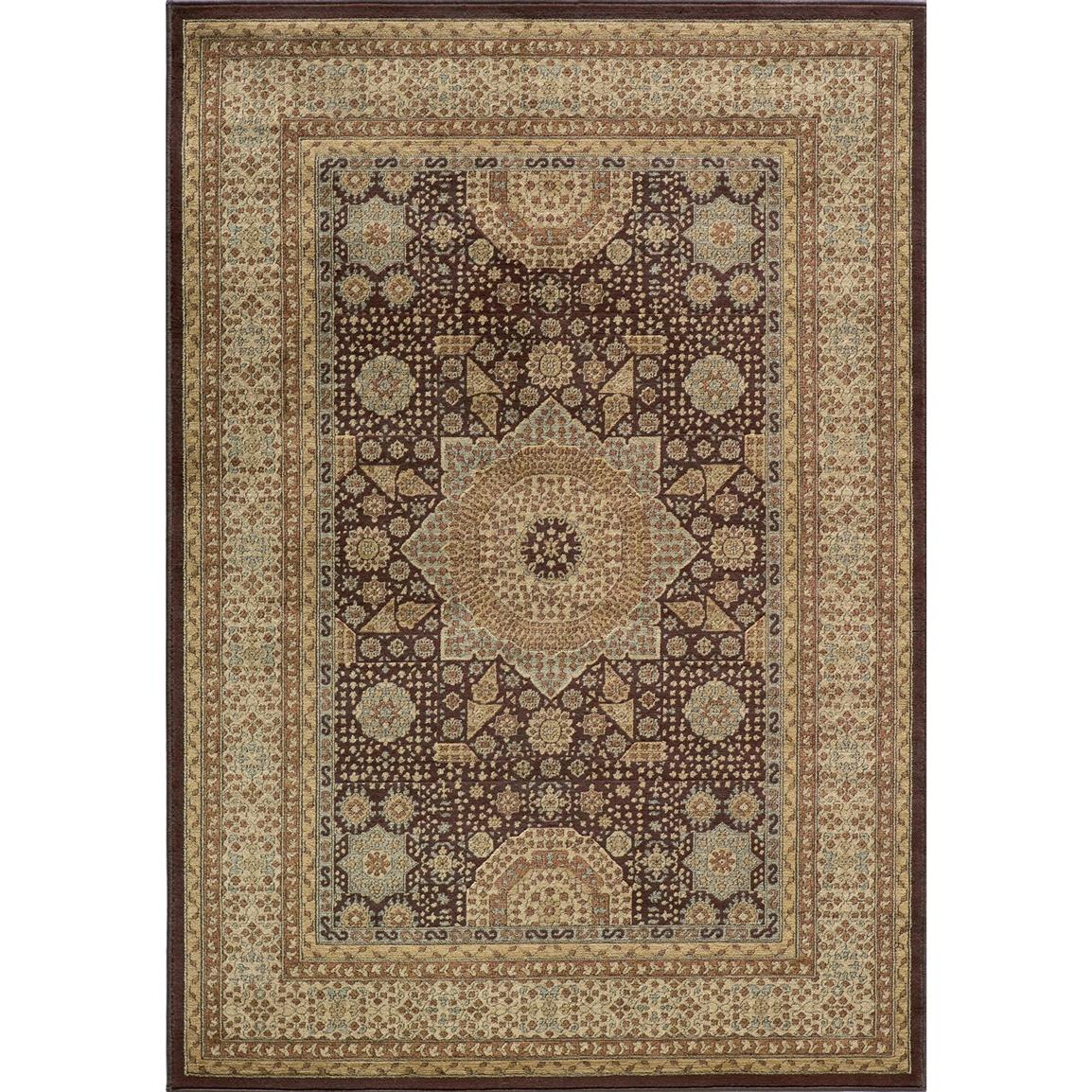 Momeni® Belmont Area Rug, 7 foot 10 inch x 9 foot 10 inch / BE-03, Brown