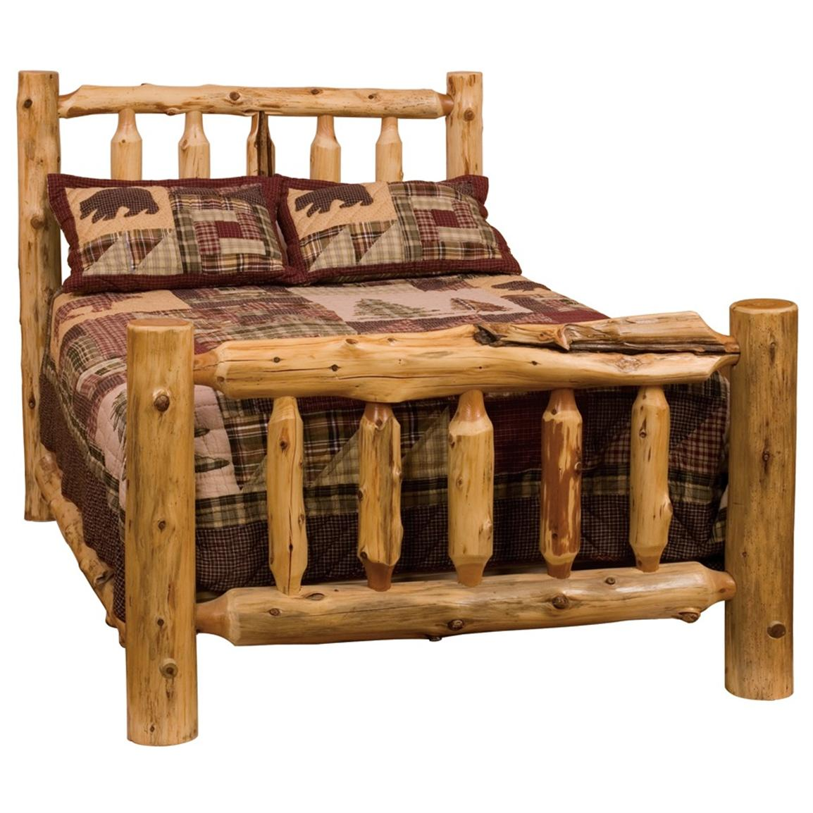 Fireside Lodge Traditional Cedar Log Bed