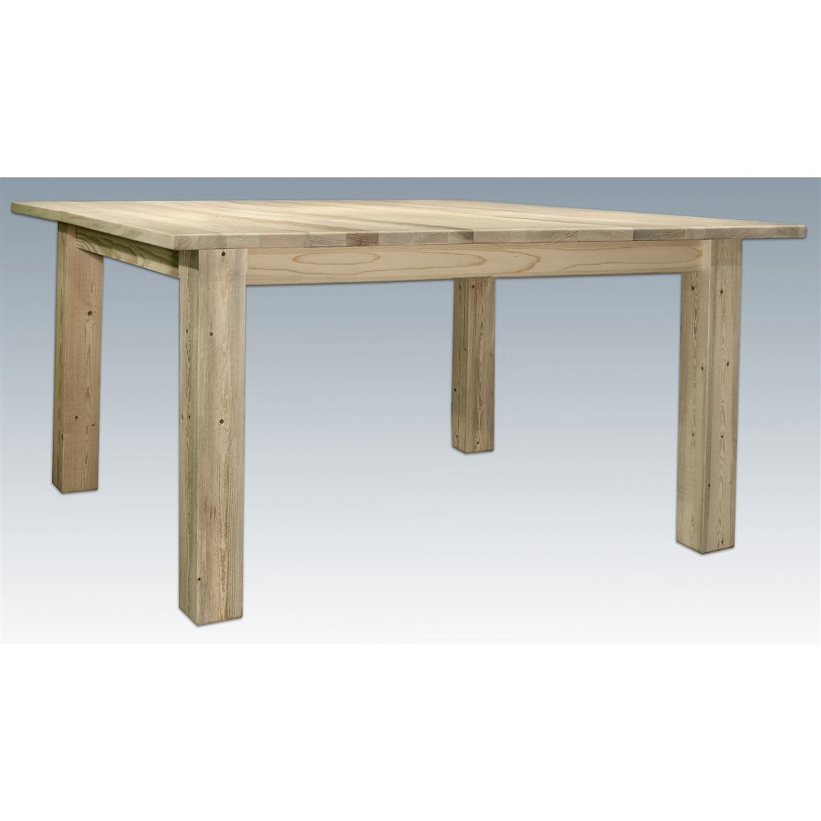 Montana Woodworks® Homestead Collection 4-post Dining Table, Ready to Finish
