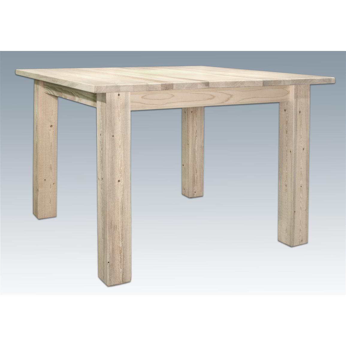 Montana Woodworks® Homestead Collection Square 4-post Dining Table, Ready to Finish