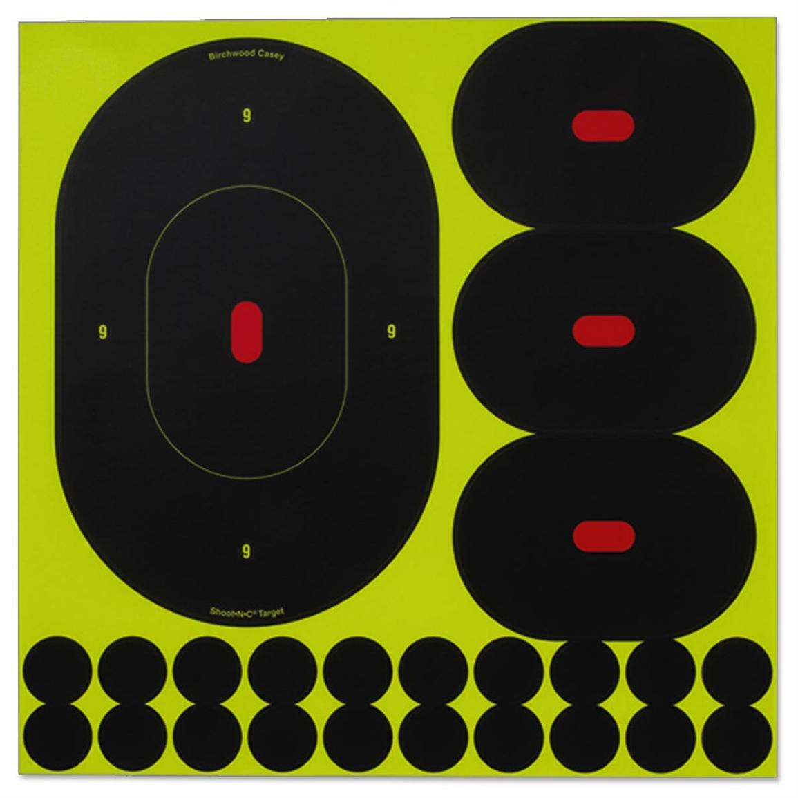Birchwood Casey® Shoot-N-C® 9x4 inch Silhouette Assortment Target