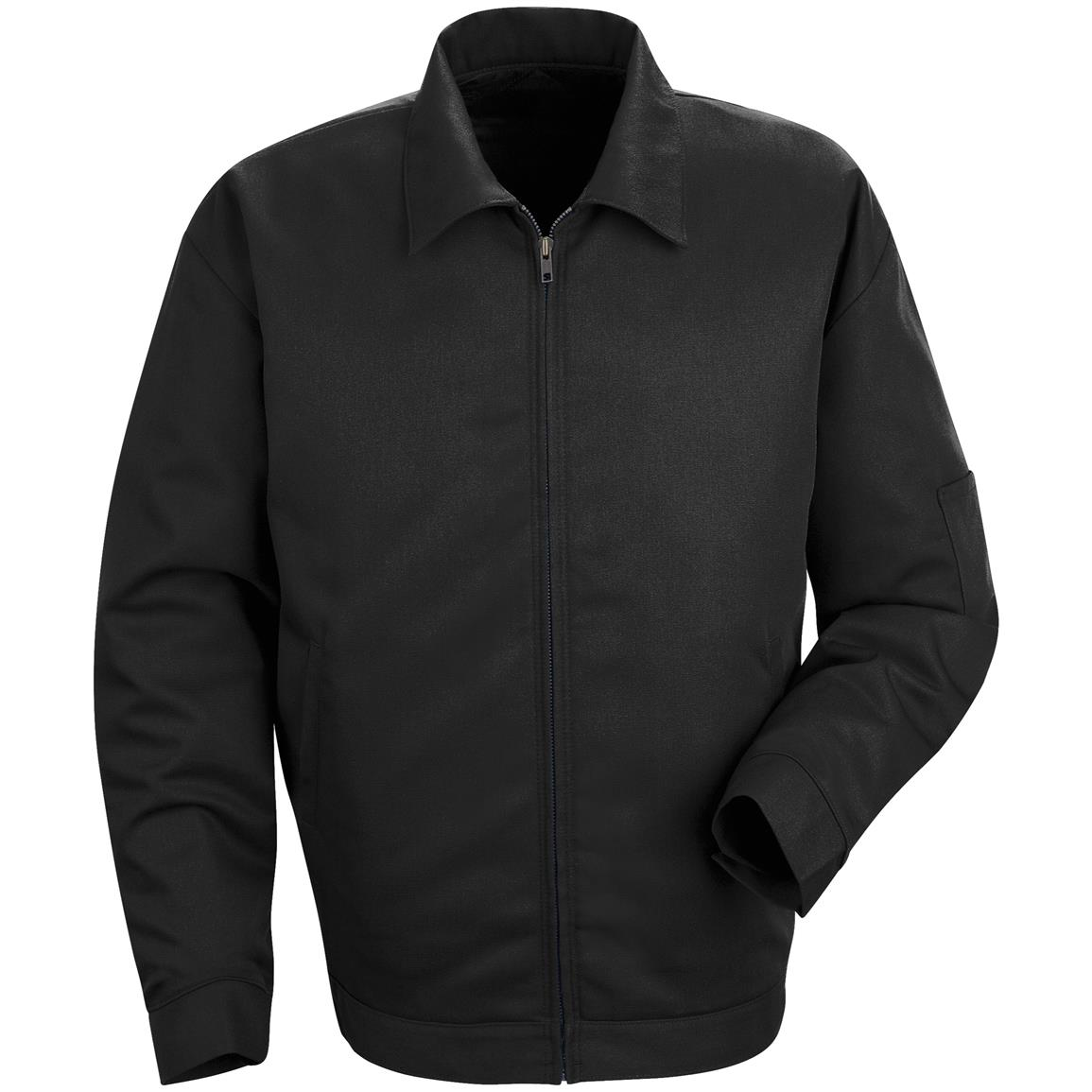 Red Kap® Slash Pocket Jacket, Black