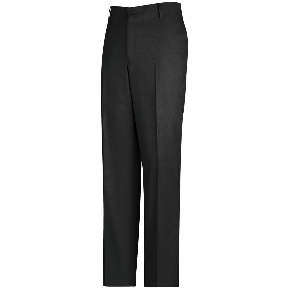 Men's Red Kap® Plain Front Twill Pants, Black