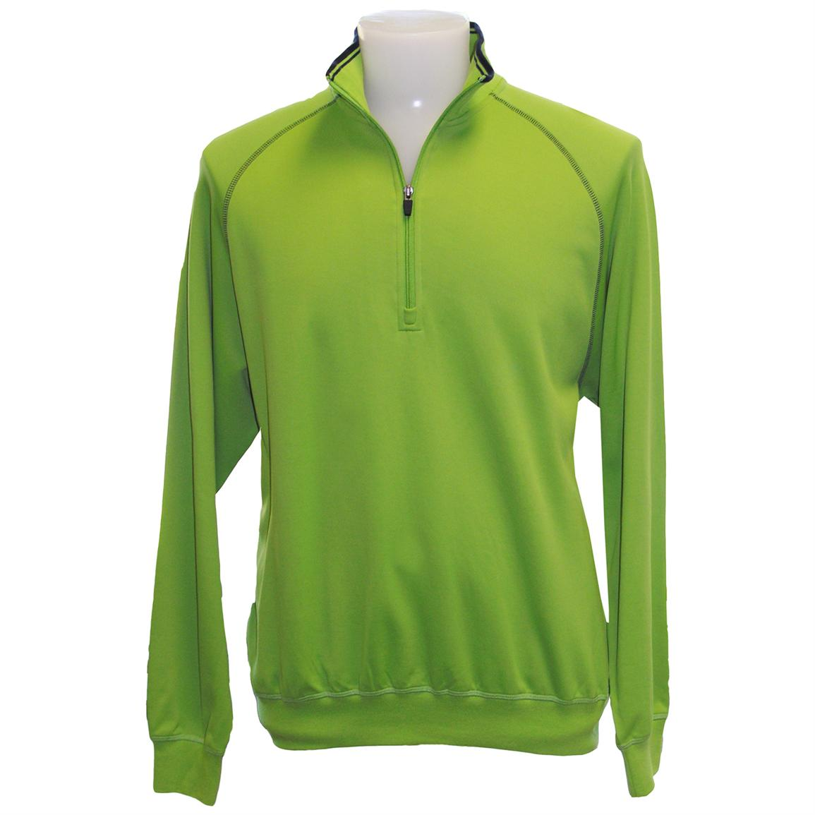 Page & Tuttle® Quarter-zip Luxury Fleece, Gecko Green