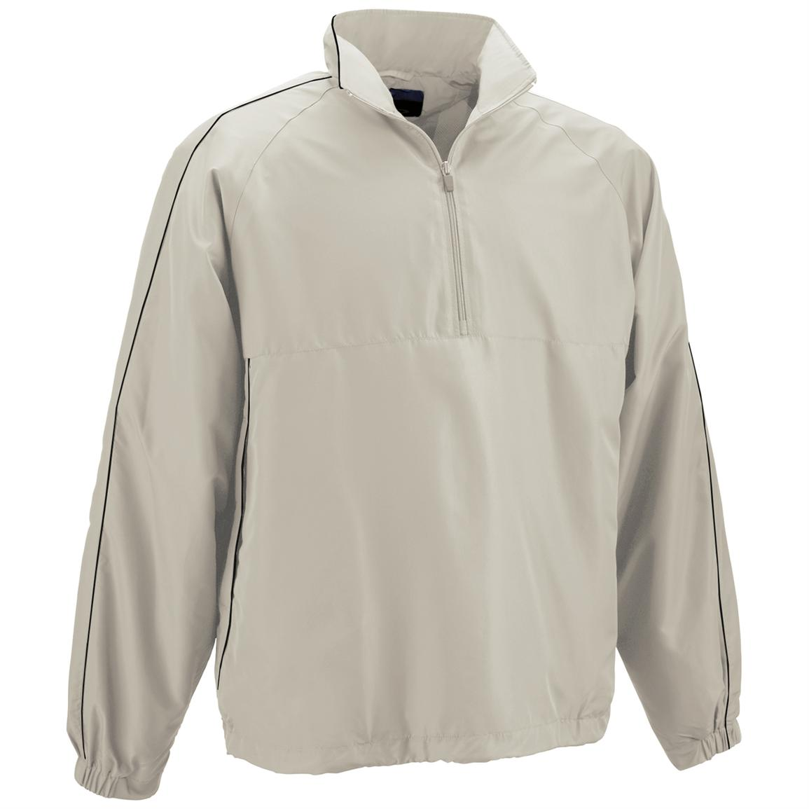 Page & Tuttle® Piped 1/4-zip Windshirt, Pumice
