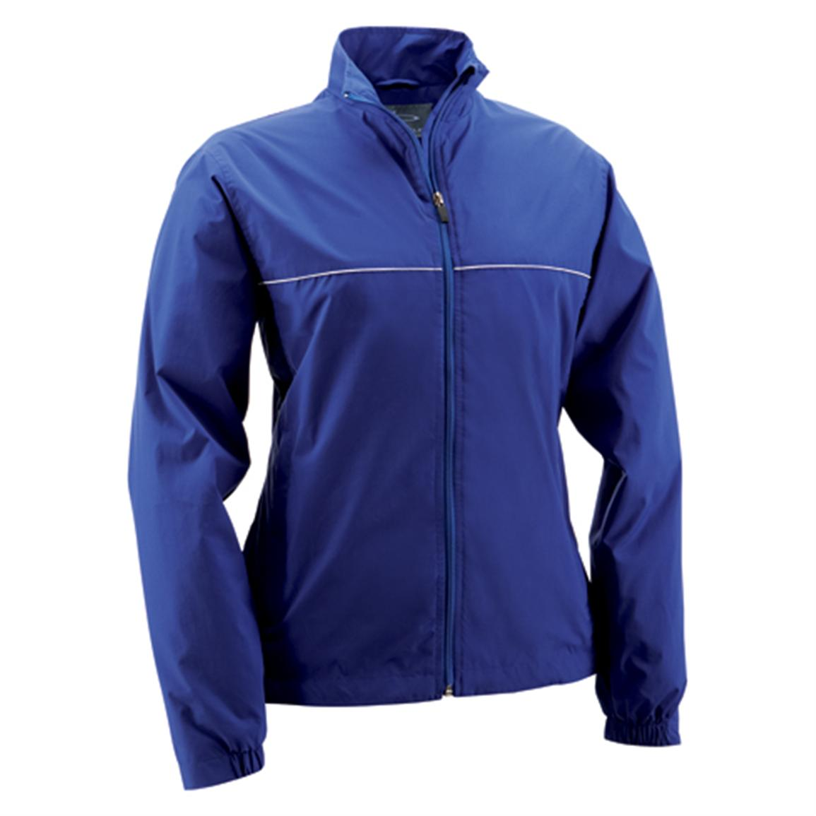 Women's Page & Tuttle® Piped Poplin Jacket, Cobalt