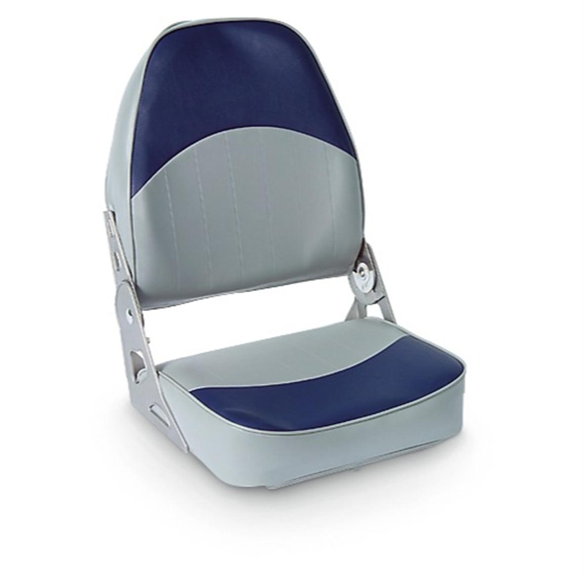High-back Boat Seat, Navy / Gray