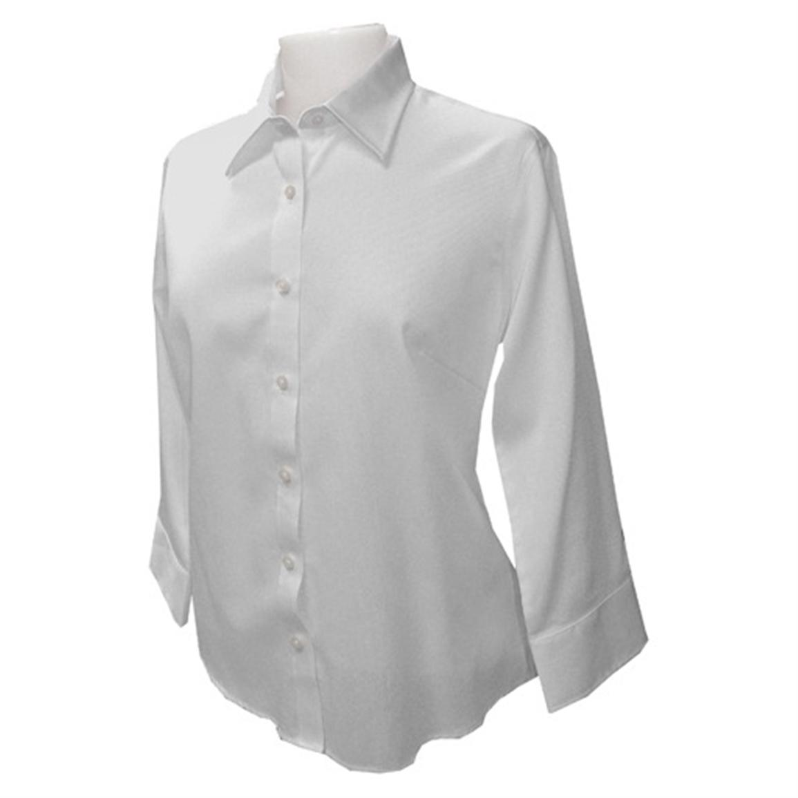 Women's 3/4 - sleeve Textured Broadcloth Button - down Shirt from ...