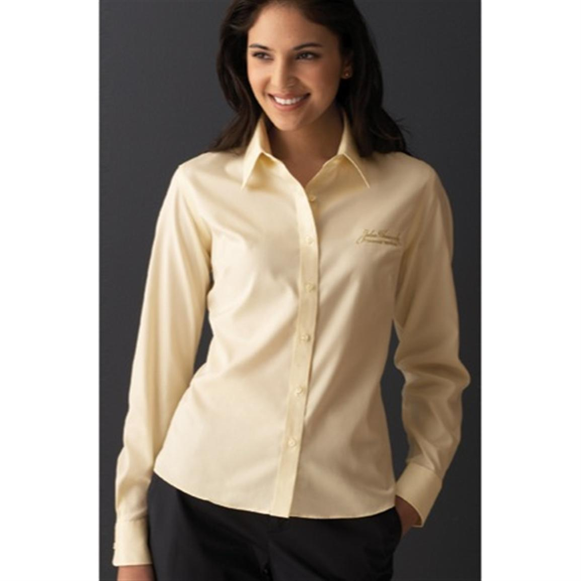 Women's Executive Pinpoint Oxford Freedom Shirt from Forsyth®, Light Yellow