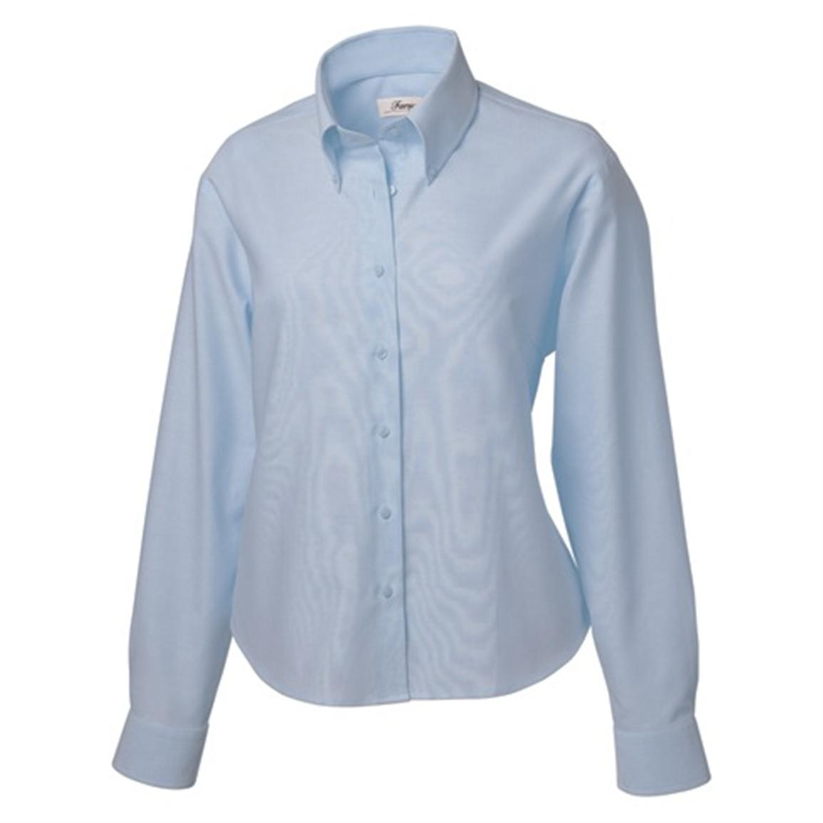 Women's Long-Sleeve Oxford Sport Shirt from Forsyth®, Blue