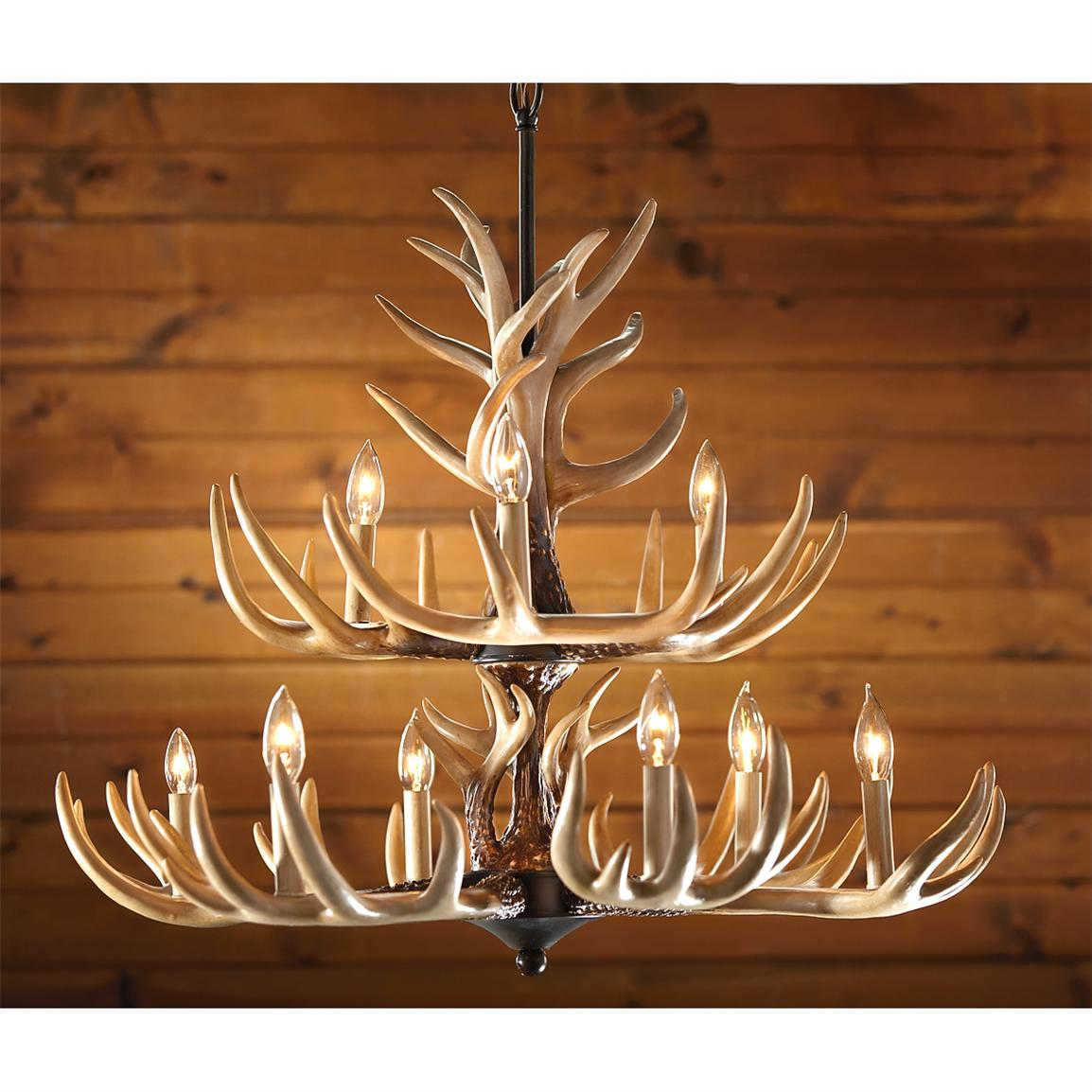 CASTLECREEK® 9 Light Whitetail Antler Chandelier