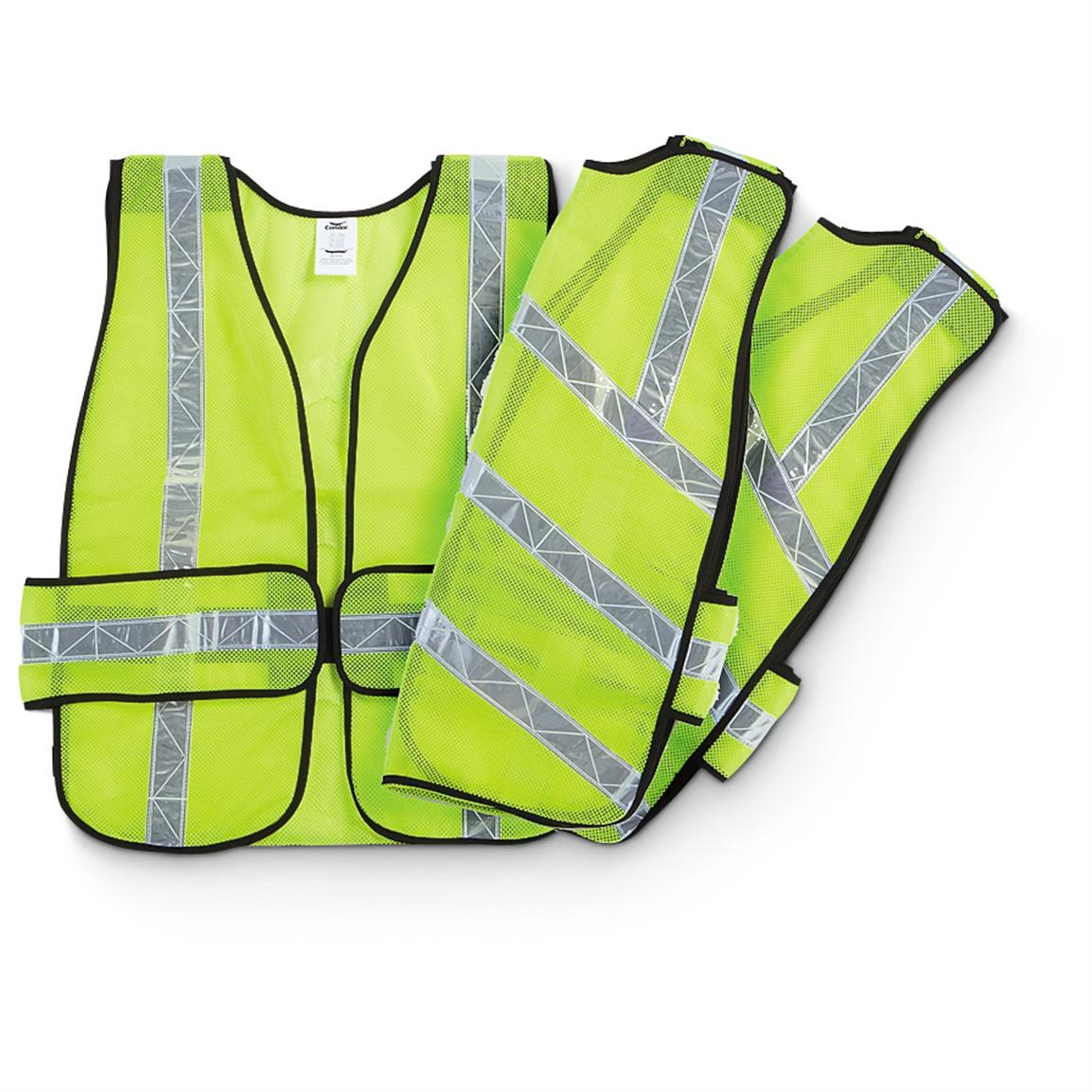 3-Pk. of Condor® High-visibility Safety Vests, Lime
