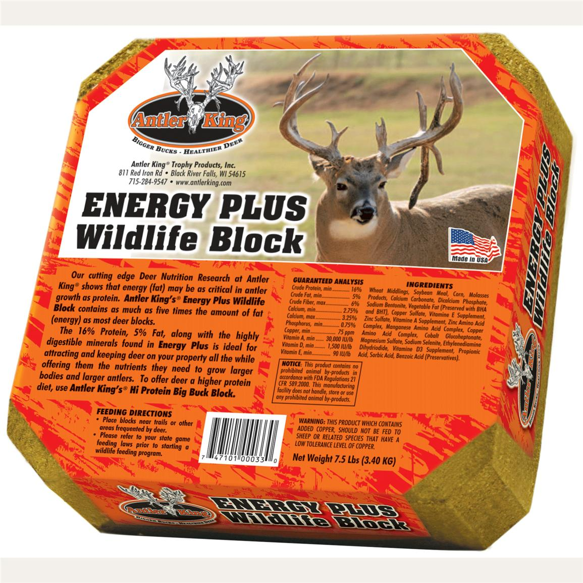 Antler King Energy Plus Wildlife Blocks, 7.5 lb., 2 Pack