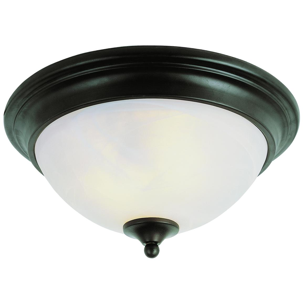 Trans Globe Lighting® Bishop 2-light 13 inch Flush-Mount Fixture