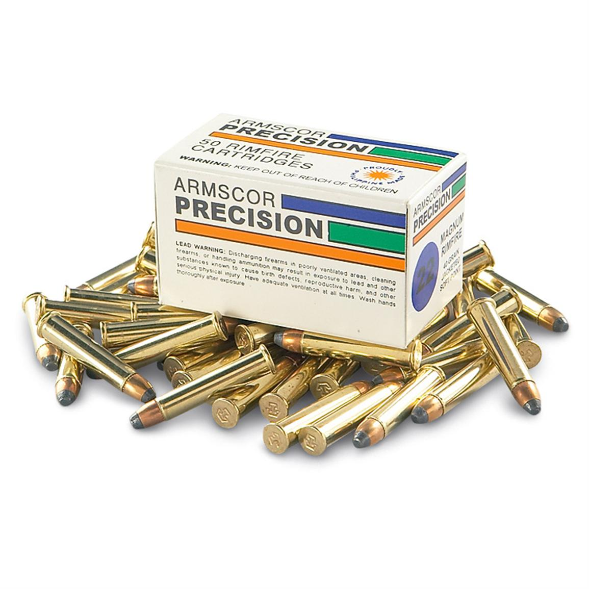 Armscor® 40-grain .22 Mag. Jacketed Soft Point Ammo