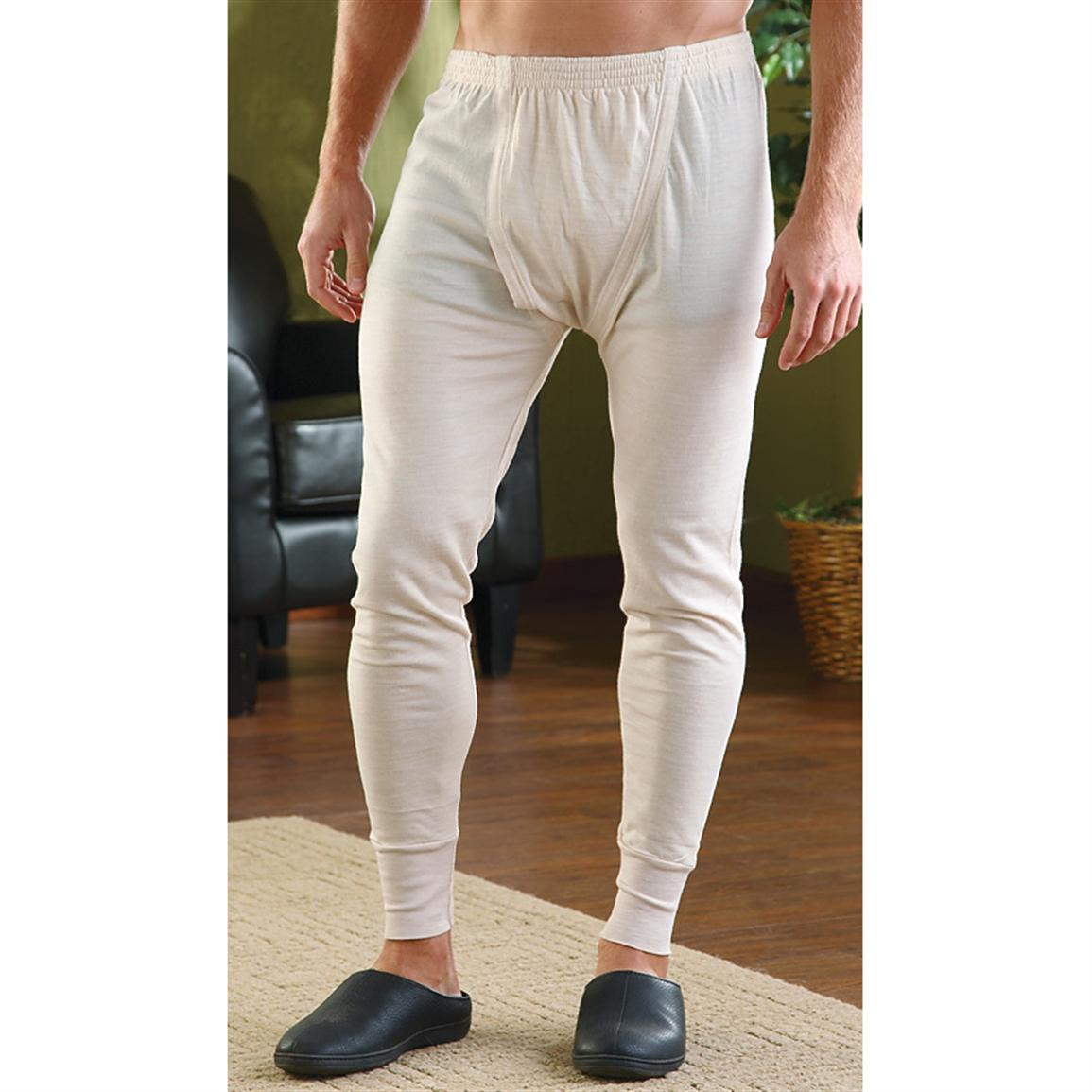 4 New Italian Military Surplus Long Johns, Off-white - 210953 ...