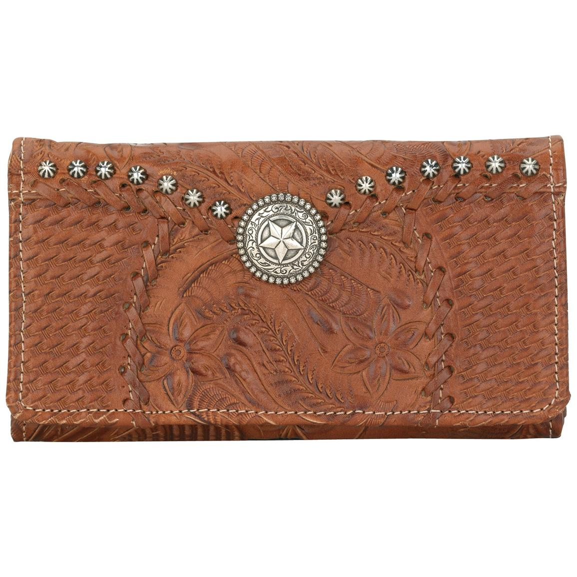 American West® Retro Romance Collection Hand-tooled Leather Wallet