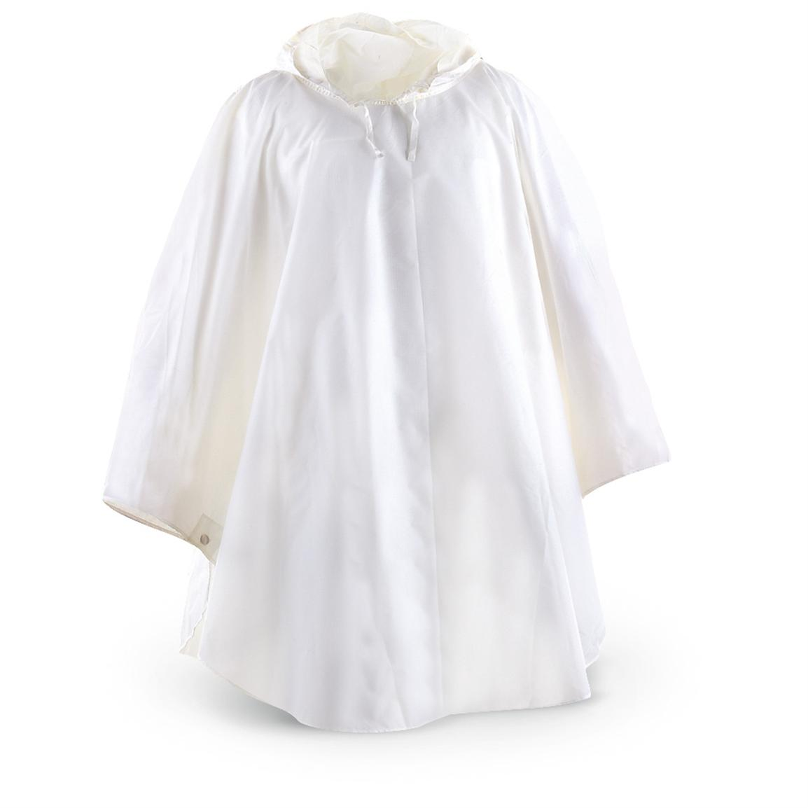 Used Austrian Military Snow Poncho Off White 230091