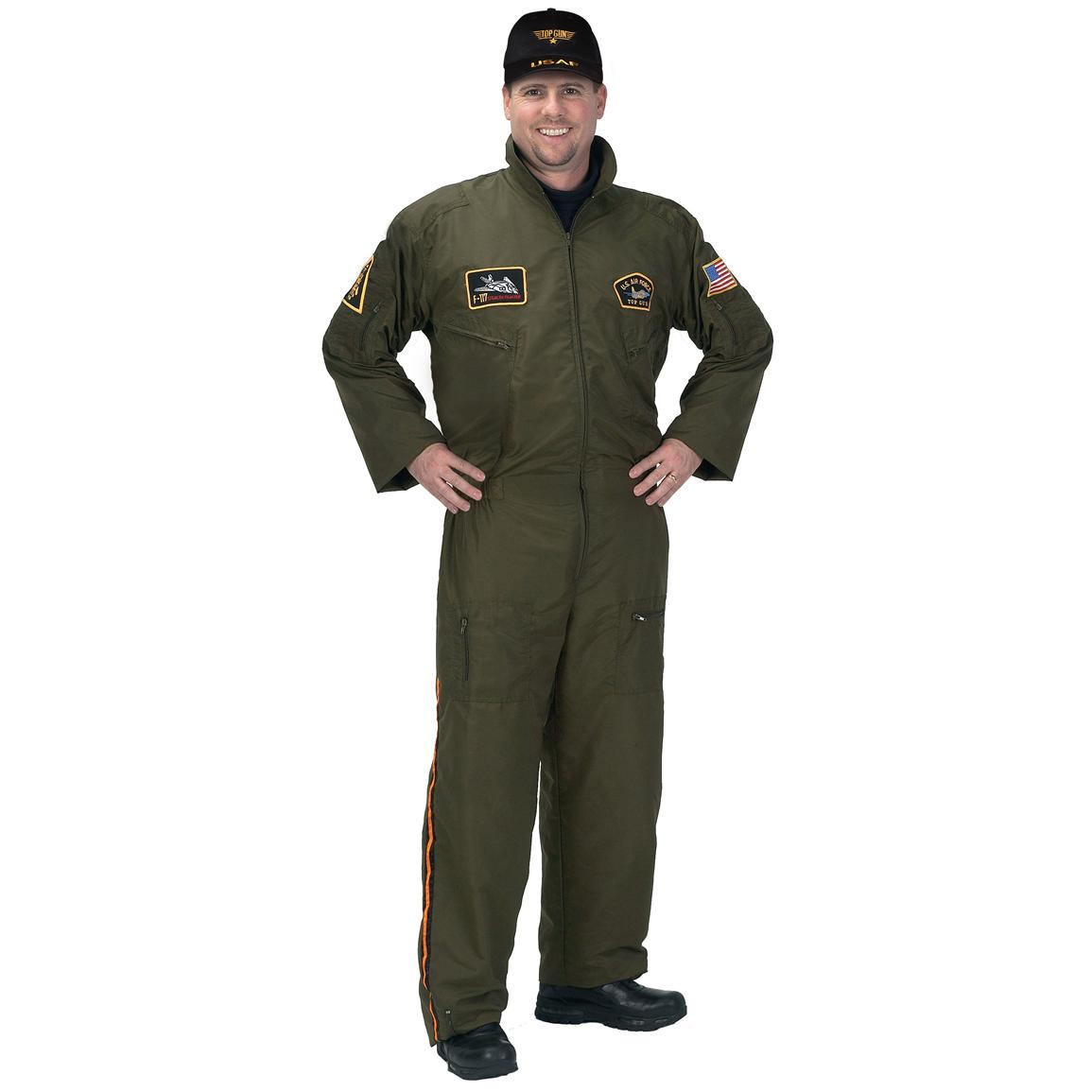 Adult Armed Forced Pilot Costume with Cap