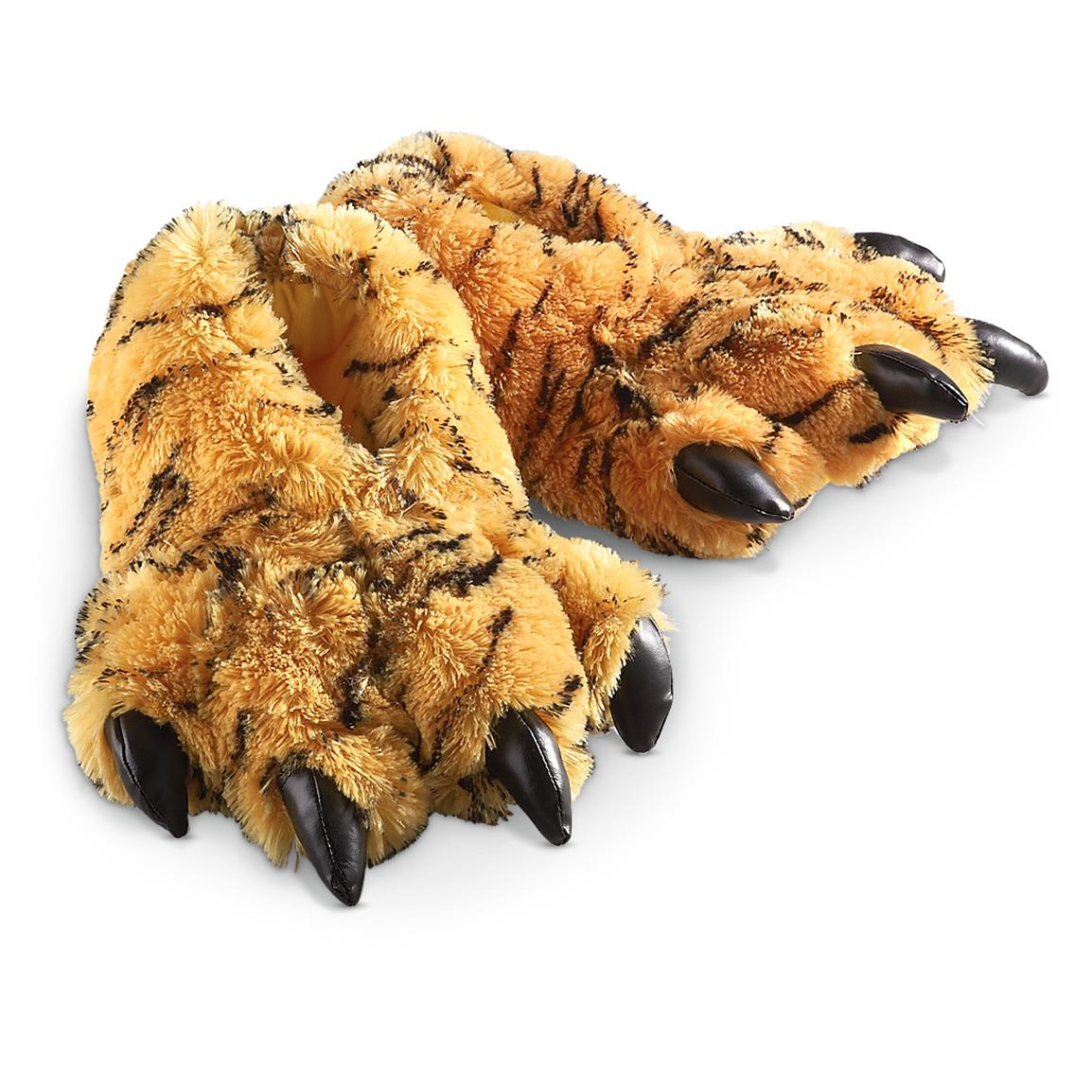Furry Tiger Slippers
