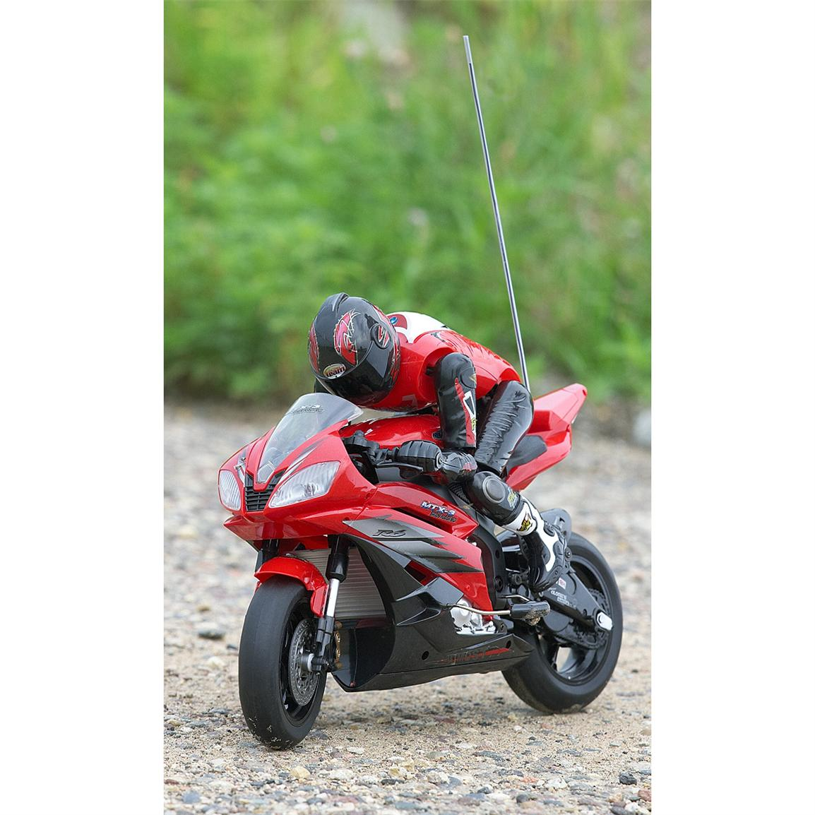 Radio-controlled Motorcycle; Amazing speed up to 14 mph; Large size, over 16 inches long