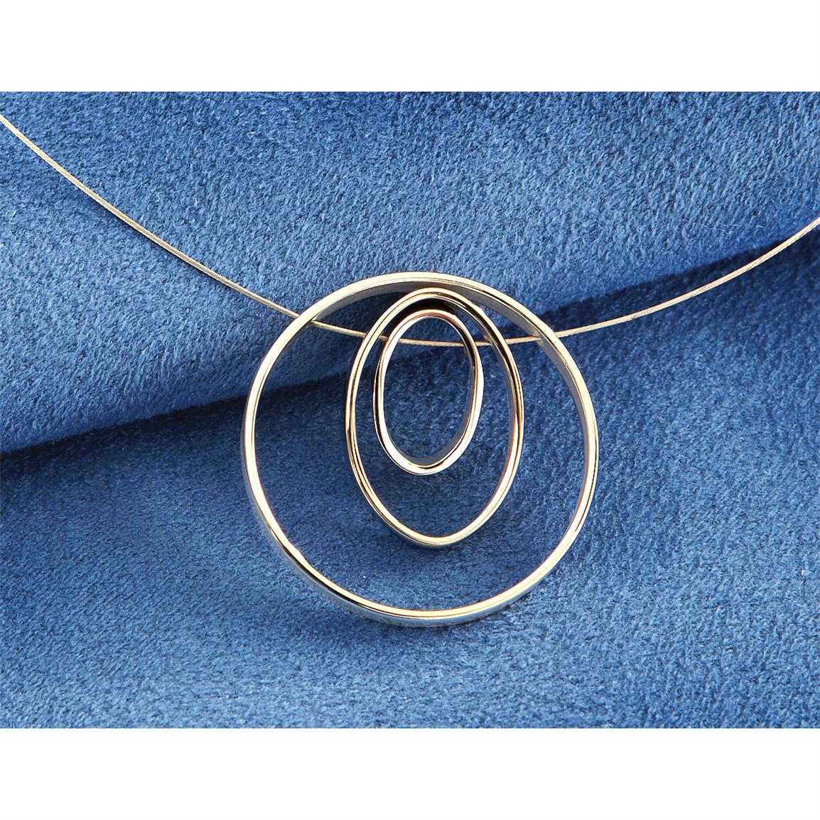 Steel X™ Stainless Steel Oval on Cable Necklace