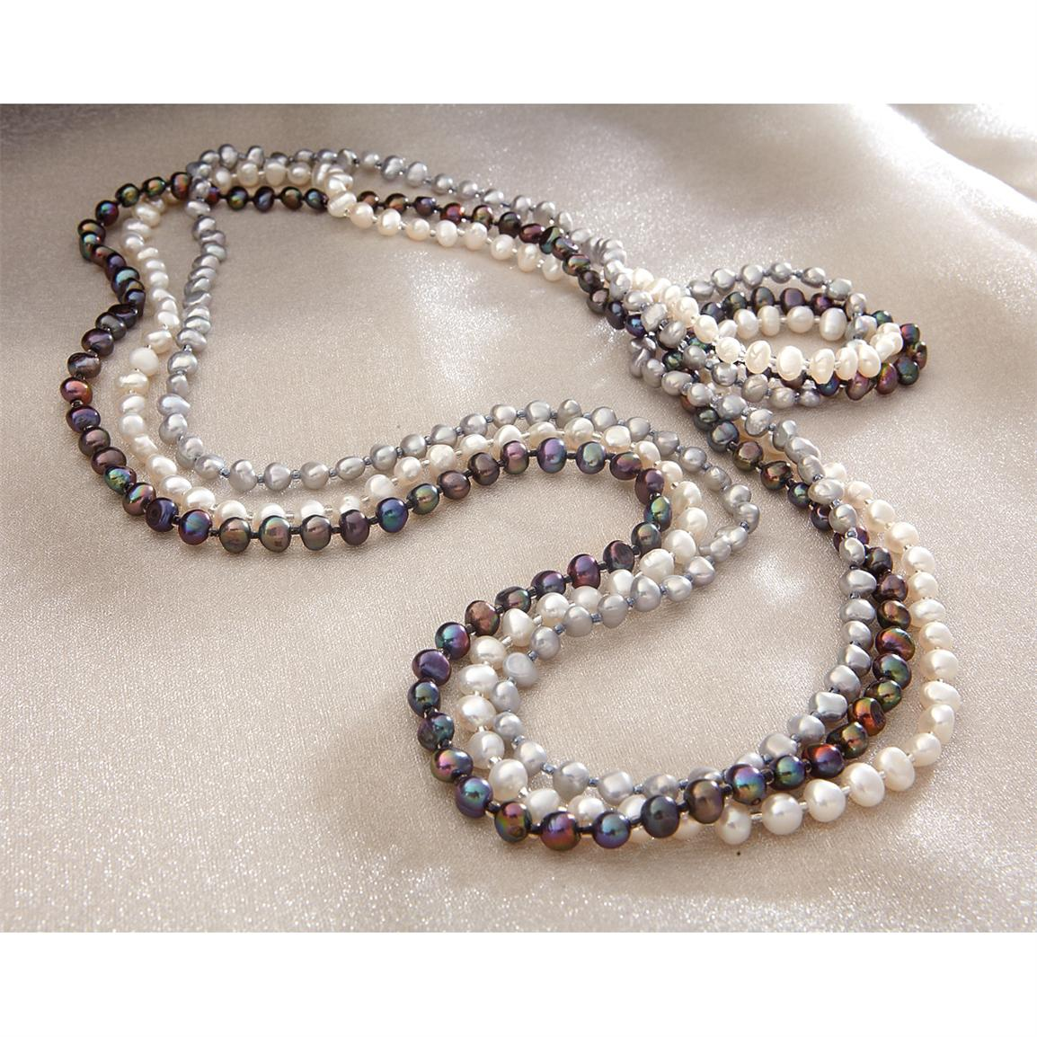 3-Pc. 32 inch long Freshwater Pearl Necklace Set