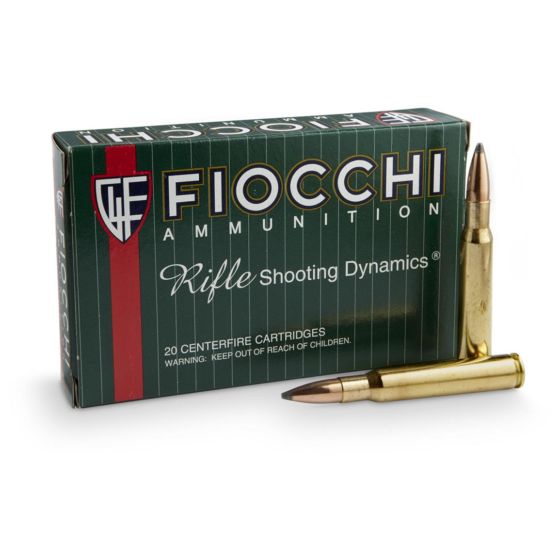 Fiocchi Rifle Shooting Dynamics, .30-06 Springfield, PSP, 150 Grain, 20 Rounds