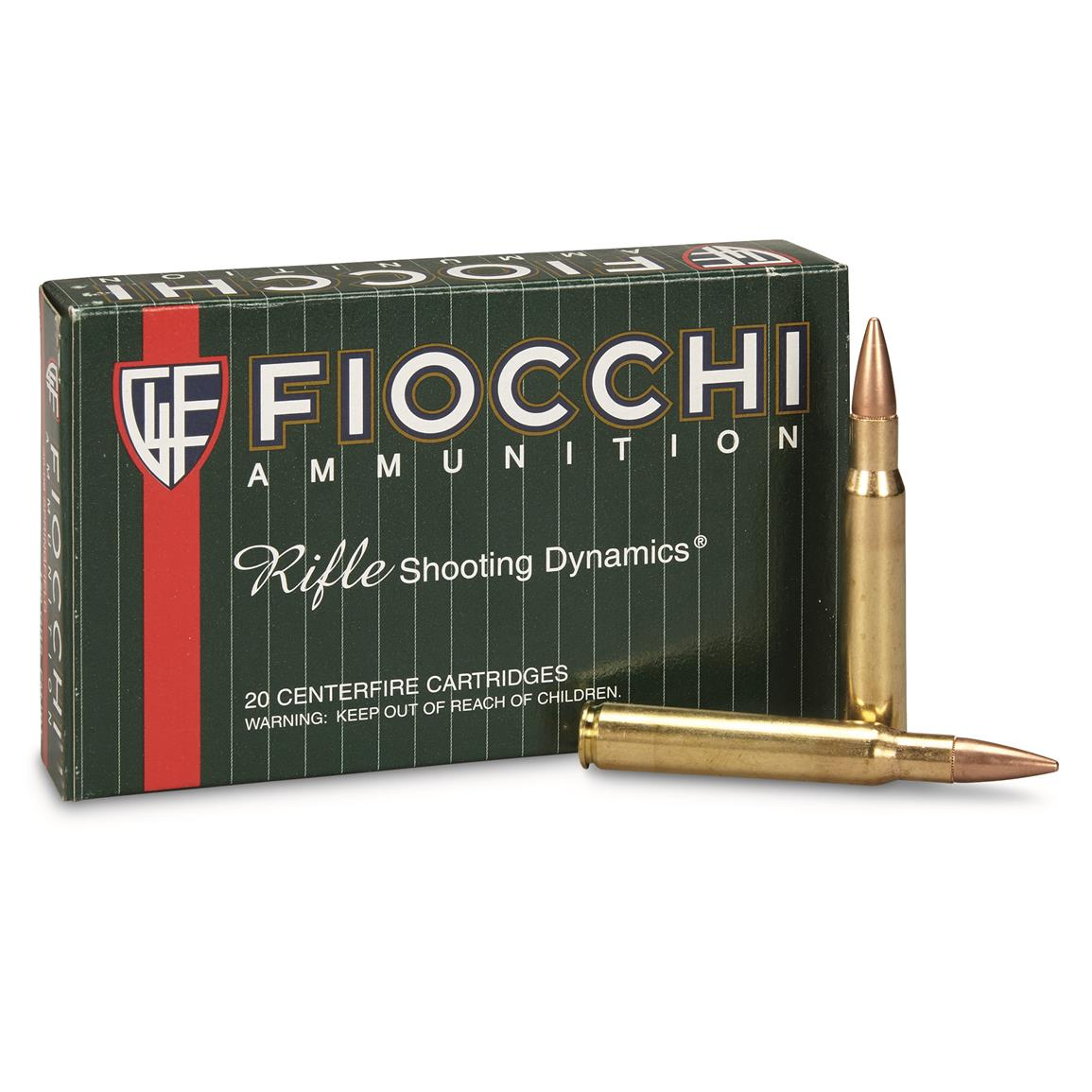 Fiocchi Rifle Shooting Dynamics, .30-06 Springfield, 150 Grain, FMJBT, 20 Rounds