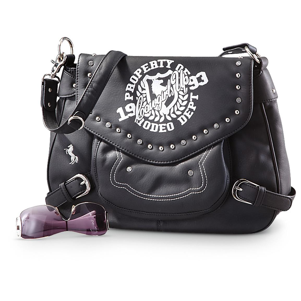 Cowgirl Up® Foiled Purse, Black