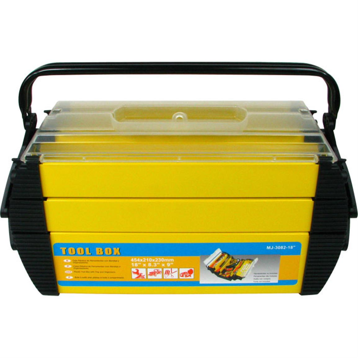 Trademark® Deluxe Steel and Plastic Tool Box