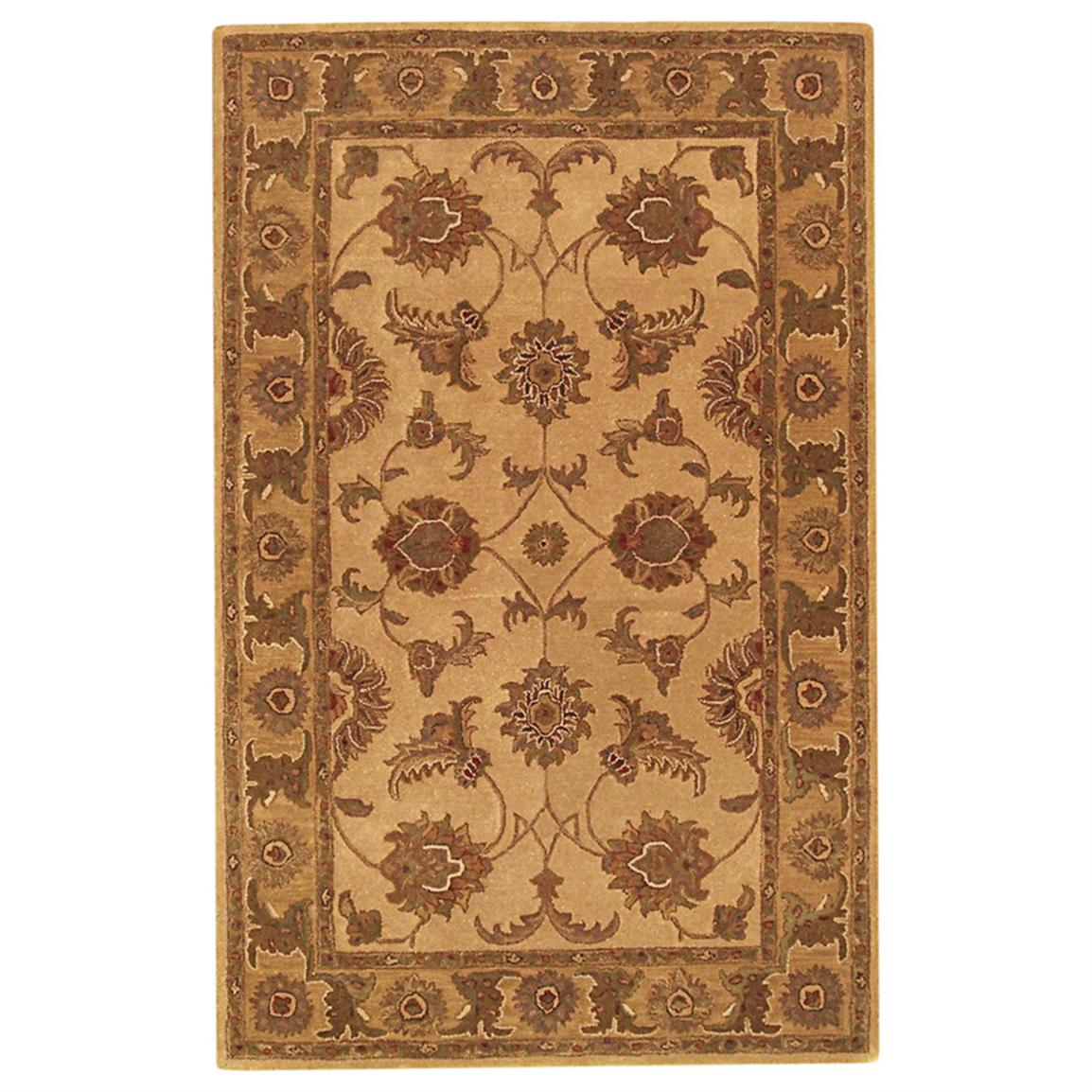 DonnieAnn® 5x8 foot Imperial Area Rug, Beige / Gold / Traditional Design
