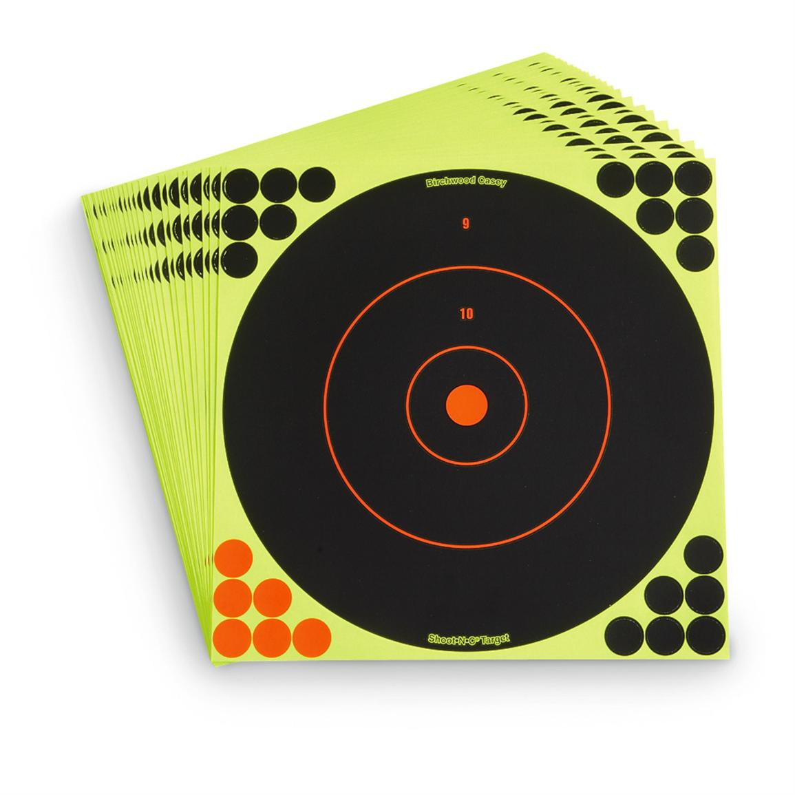 "Reactive 12"" Paper Shooting Targets, 25 Pack"