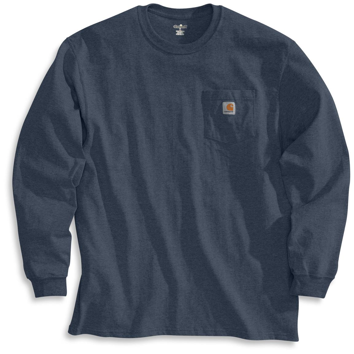 Men's Carhartt Workwear Long-Sleeve Pocket T-Shirt, Bluestone