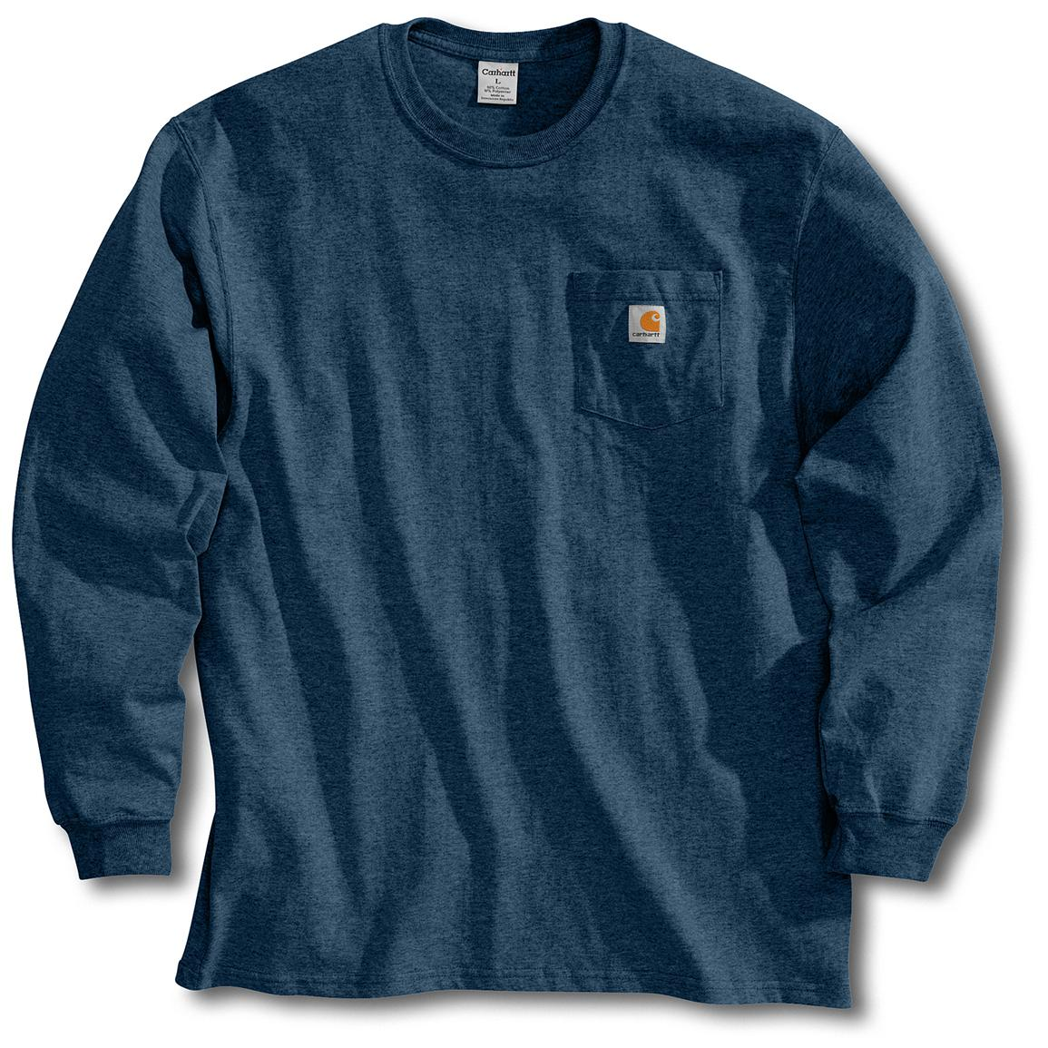 Men's Carhartt Workwear Long-Sleeve Pocket T-Shirt, Navy