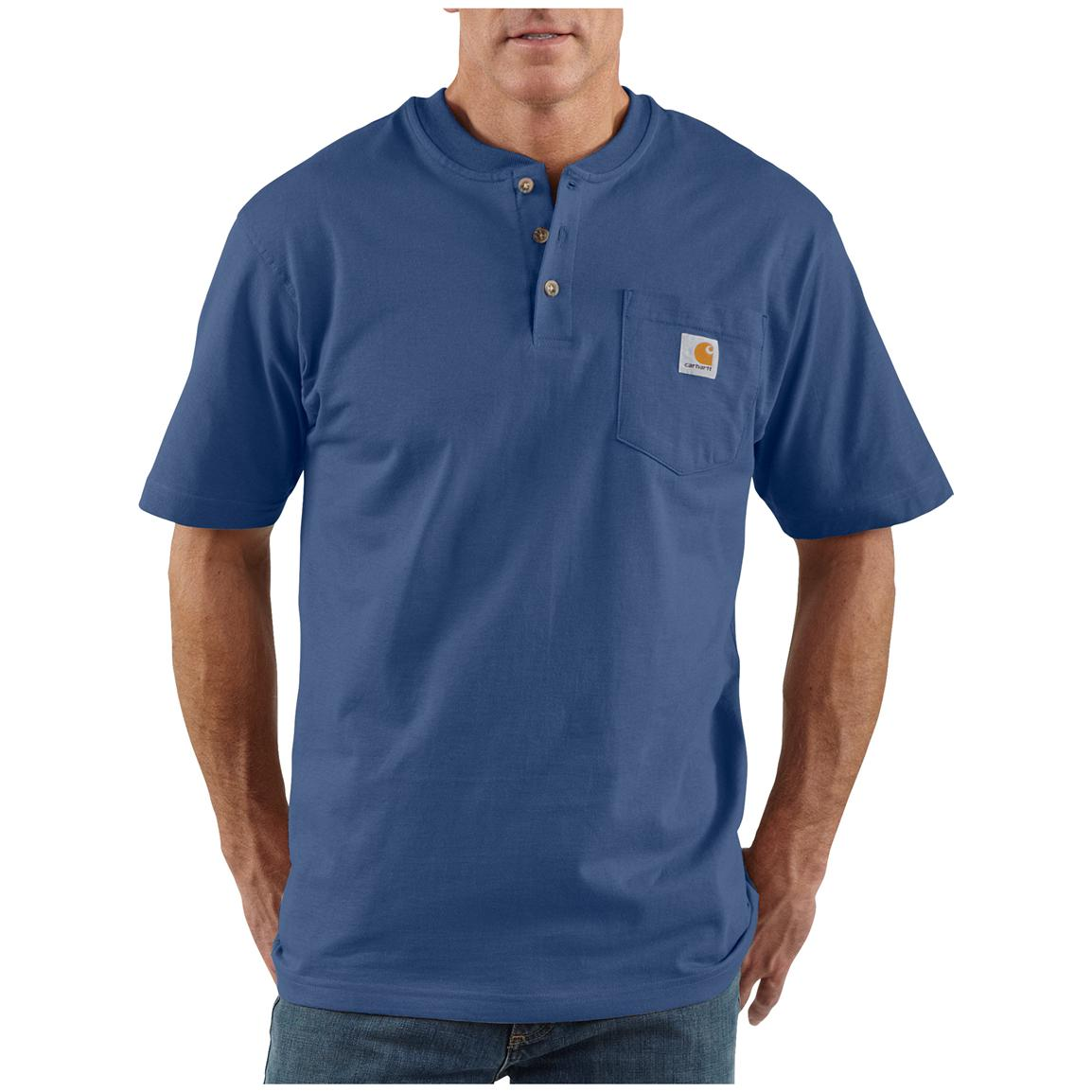 Men's Carhartt® Workwear Short-sleeve Pocket Henley, Royal