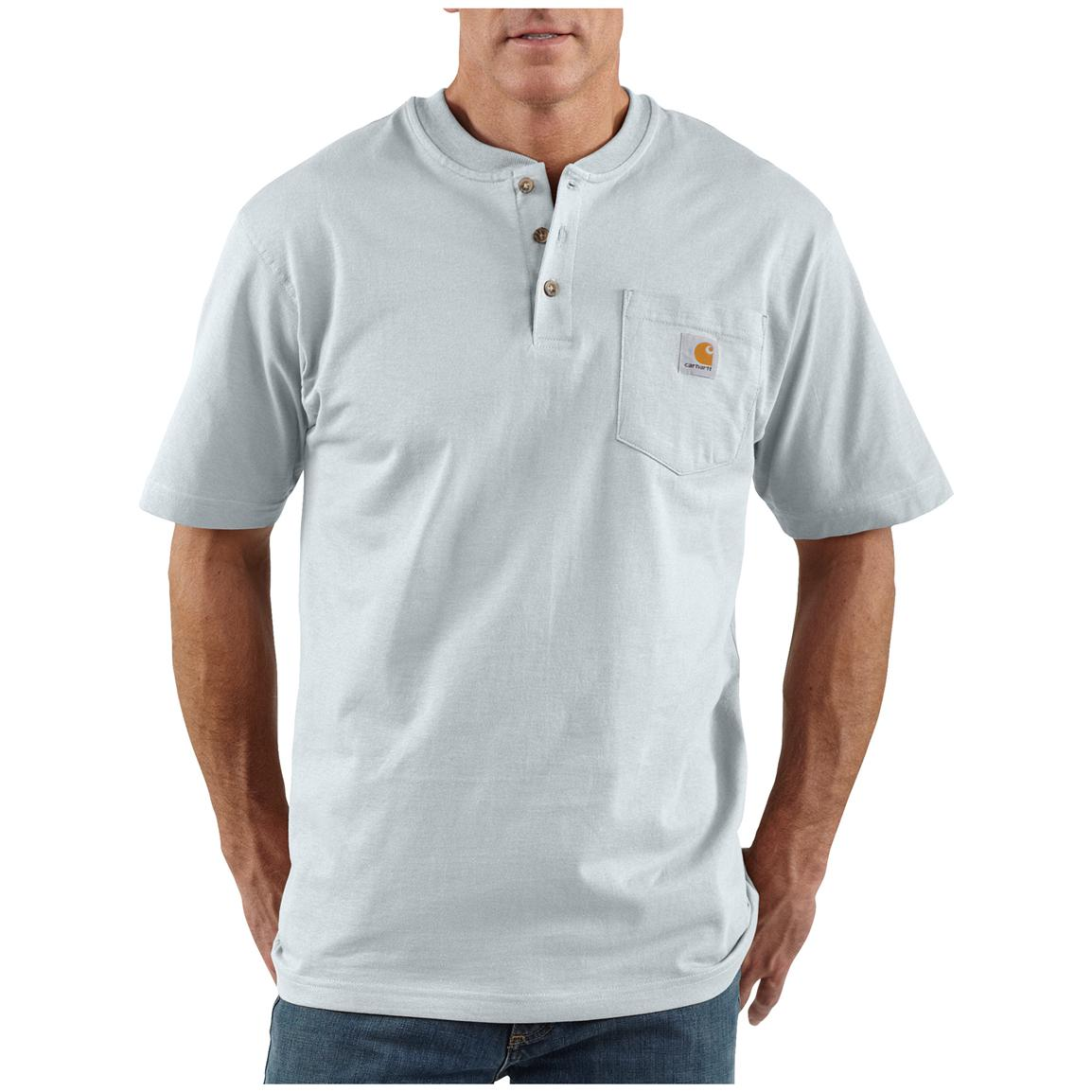 Men's Carhartt® Workwear Short-sleeve Pocket Henley, Ash