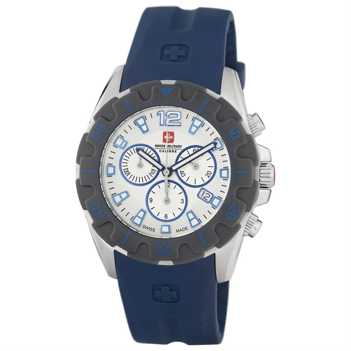 Men's Swiss Military Calibre Marine Watch with Chronograph, Blue